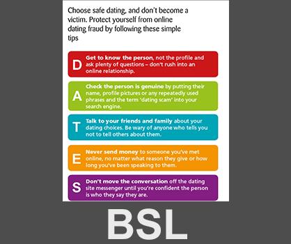 BSL ActionFraud 'Dating Fraud' - Talking Media