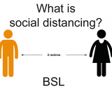 What is Social distancing and social isolation in BSL
