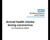 Annual health checks during coronavirus – An EasyRead leaflet